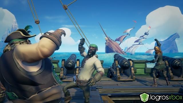 Participa en el hundimiento del barco de otra tripulación.