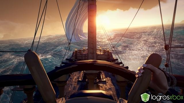 Echa el ancla con el timón del barco completamente girado en una dirección.