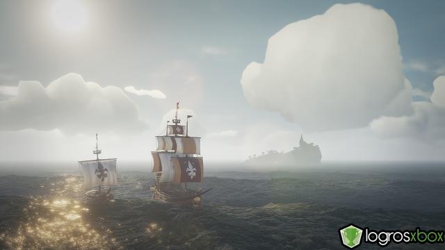 Navega en la misma dirección que otro barco cercano sin intercambiar disparos.
