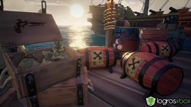 ¡Has recibido un elogio por entregar 1000 barriles de pólvora a tiempo!