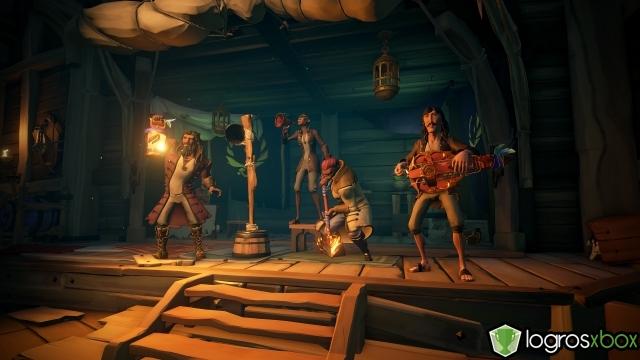 Forma una tripulación de cuatro en la arena y tocad los instrumentos durante un duelo.