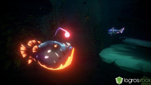 Entrega un pez luminiscente a la Llamada del Cazador.