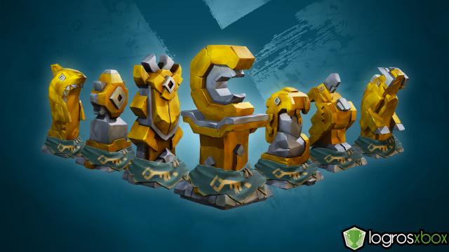 Abre tres criptas del tesoro con llaves de la cripta doradas.