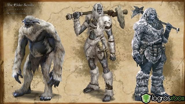 Schneeoger und Riesen, sowohl männlich als auch weiblich, lauern in den Bergen Wrothgars.