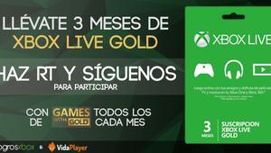 Leer noticia 3 meses de Xbox Live Gold gratis. Concurso del 6 de agosto gracias a Vidaplayer completa