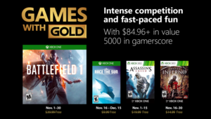 Leer noticia Battlefield 1, Race the sun, Assassin's Creed y Dante's Inferno Games With Gold noviembre 2018 completa